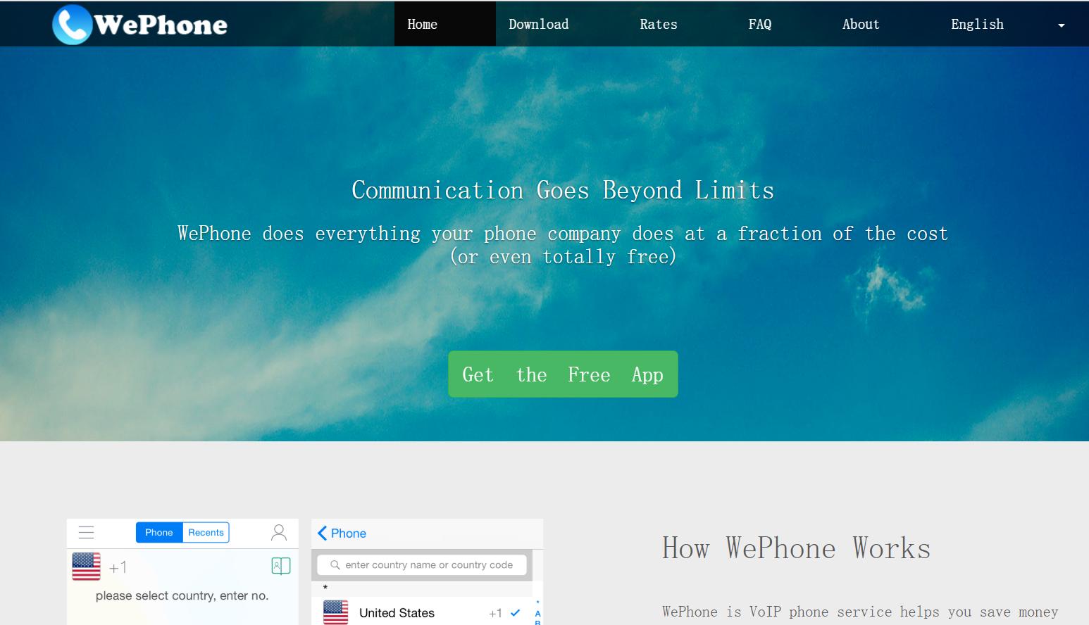 WePhone: Make Calls Online
